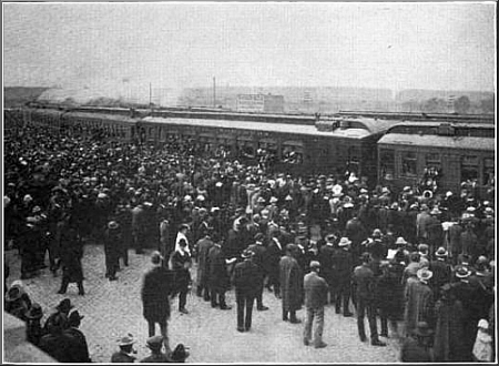 Drafted Men Leave Montana Train Station—1917.