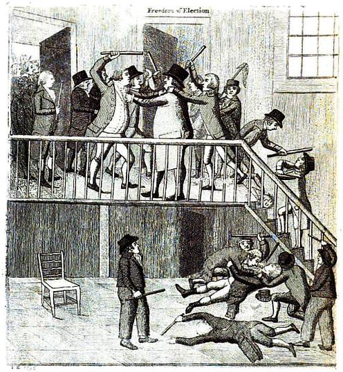 """""""Freedom of Election"""" Illustrated.—John Kay."""
