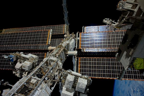 A view of the International Space Station's main power truss. Credit: ESA/NASA/Samantha Cristoforetti.