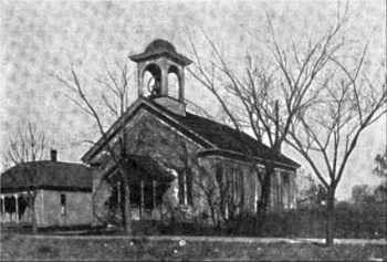The old church in Ossawatomie, Kansas, attended by John Brown.