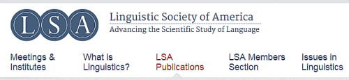 Linguistic Society of America (LSA).