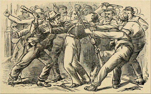 Martinsburg, West Virginia—The Mob Assaulting a Member of the Militia.