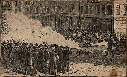 Scranton, Pennsylvania—The Mayor's Posse Firing on the Rioters.