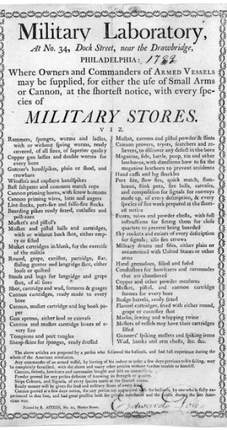 Military Lab Arms List.—Click to View Full-Size.