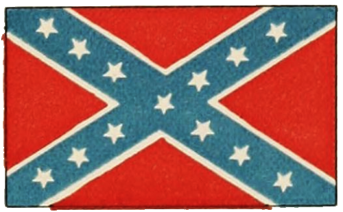 Painting of the Confederate Battle Flag.