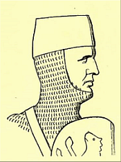 William de Albiney IV—From a drawing of his seal, Lansdowne MS, 203.
