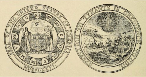 Jefferson's Design, 1776.