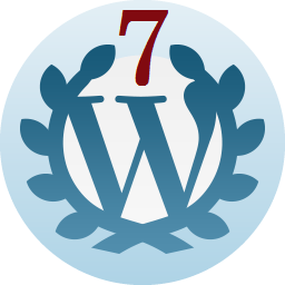 7 Years—On Wordpress since August 25th, 2009.