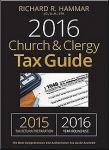 2016 Church & Clergy Tax Guide, by Richard R. Hammar—Available at Amazon.com.